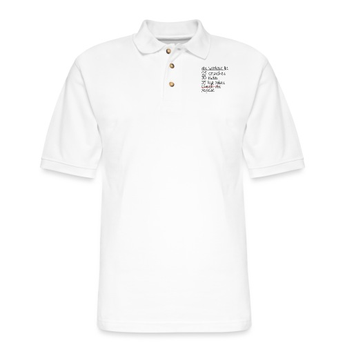 Abs Workout List - Men's Pique Polo Shirt
