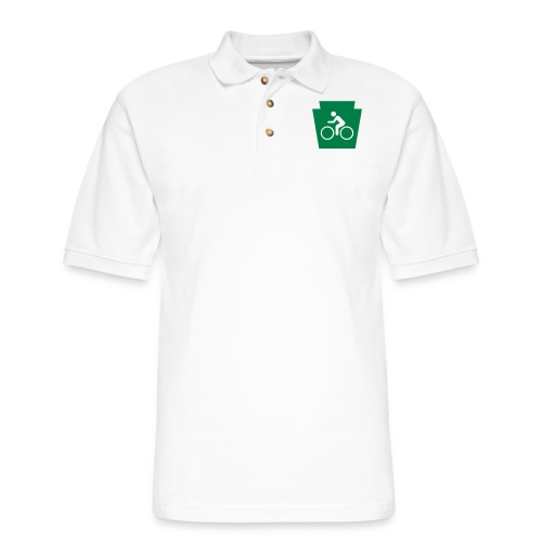 PA Keystone w/Bike (bicycle) - Men's Pique Polo Shirt