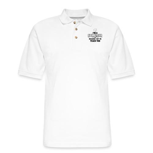 Lucky Teacher Women's T-Shirts - Men's Pique Polo Shirt