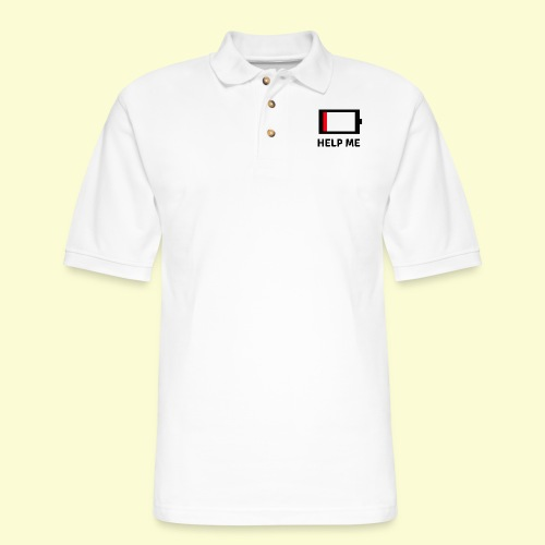 Help me - low battery - Men's Pique Polo Shirt
