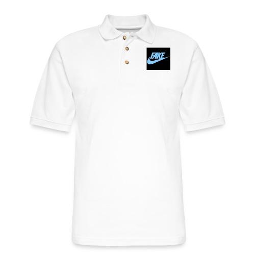 fake Nikes - Men's Pique Polo Shirt