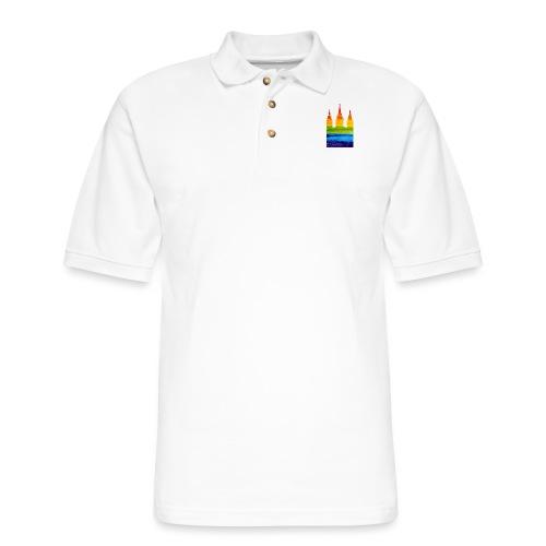 Mormon Gay Temple - Men's Pique Polo Shirt
