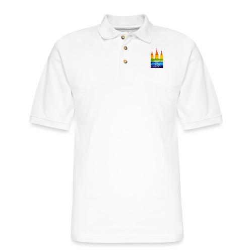 Mormon gay temple love is love - Men's Pique Polo Shirt