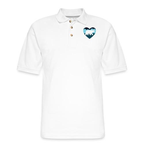 Polar Bear Love - Men's Pique Polo Shirt