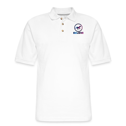 Believe Unicorn Universe 4 - Men's Pique Polo Shirt
