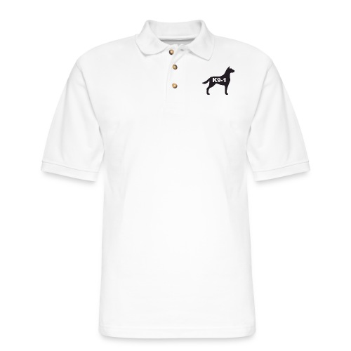 K9-1 logo - Men's Pique Polo Shirt