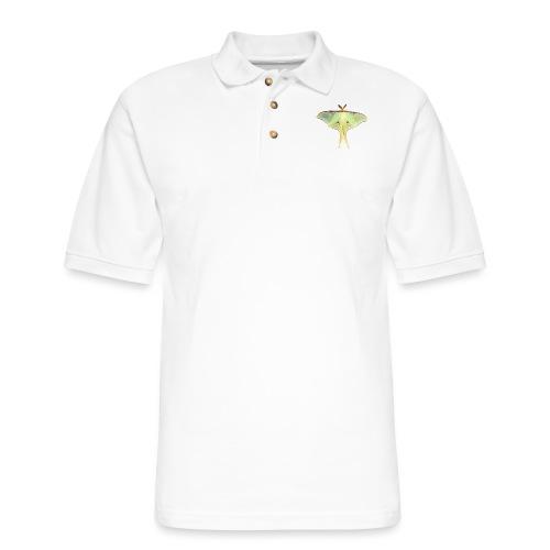 GREEN LUNA MOTH - Men's Pique Polo Shirt
