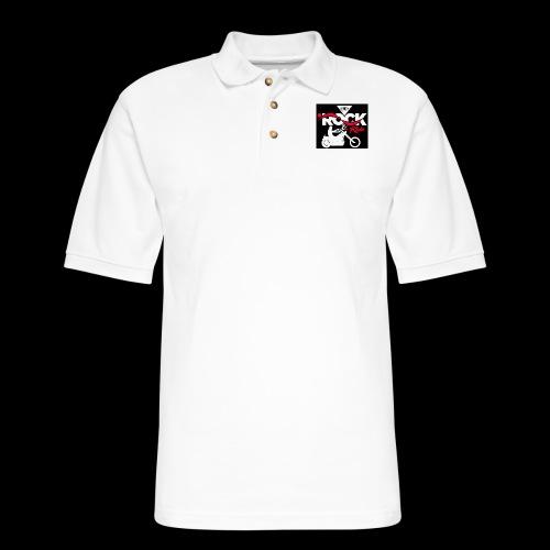 Eye Rock and Ride design black & Red - Men's Pique Polo Shirt