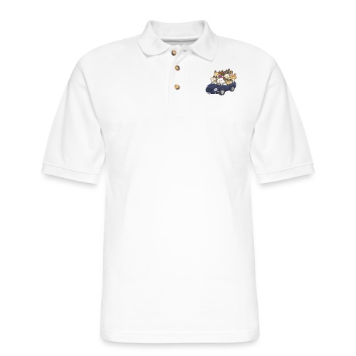 All aboard the hamster mobile! - Men's Pique Polo Shirt
