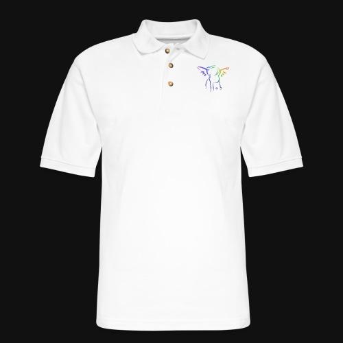 Angel Pup - Men's Pique Polo Shirt