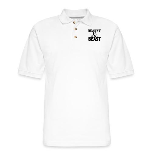 Beauty & Beast Gym Motivation - Men's Pique Polo Shirt