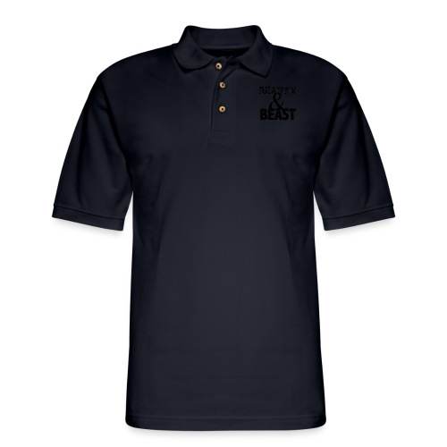 Beauty & Beast Gym Motivation - Men's Pique Polo Shirt