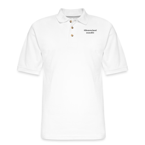 #Homeschoolmomlife - Men's Pique Polo Shirt
