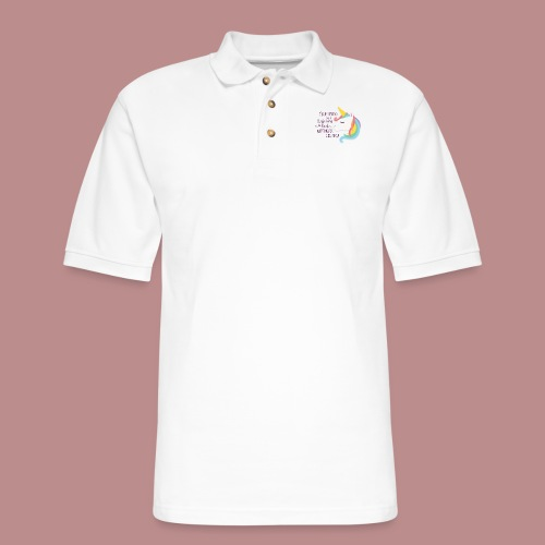 Believing in a Unicorn - Men's Pique Polo Shirt