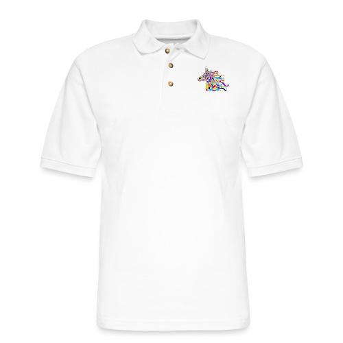 Unicorn Art Deco - Men's Pique Polo Shirt