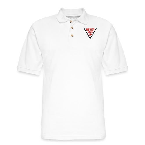 Never Give Up - Men's Pique Polo Shirt