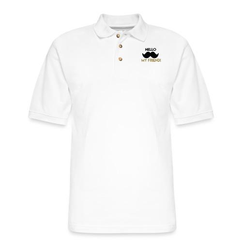 Hello my friend - Men's Pique Polo Shirt