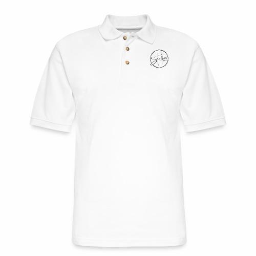 Black Logo - Men's Pique Polo Shirt