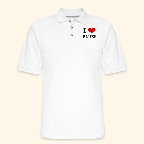 I Heart Blues - Men's Pique Polo Shirt