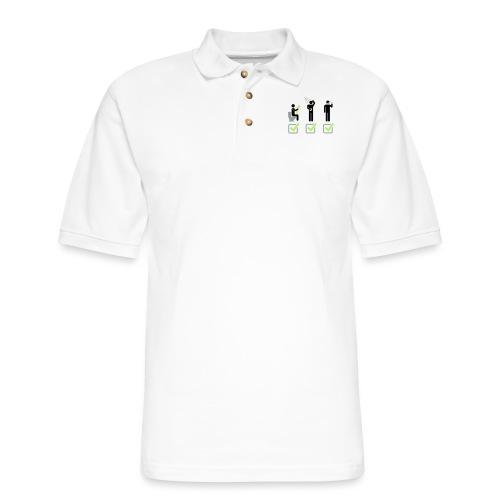 Shit Shower Shave - Men's Pique Polo Shirt