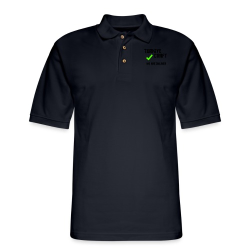 we are online boissss - Men's Pique Polo Shirt