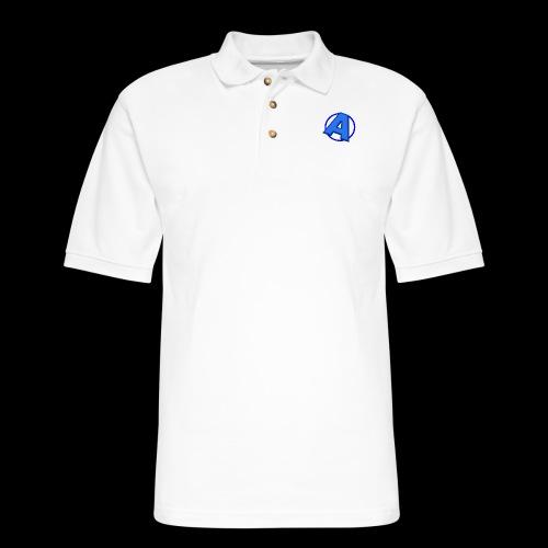 Awesomegamer Logo - Men's Pique Polo Shirt