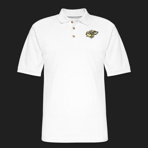 wolfepacklogobeige png - Men's Pique Polo Shirt