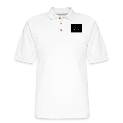 white arrows - Men's Pique Polo Shirt