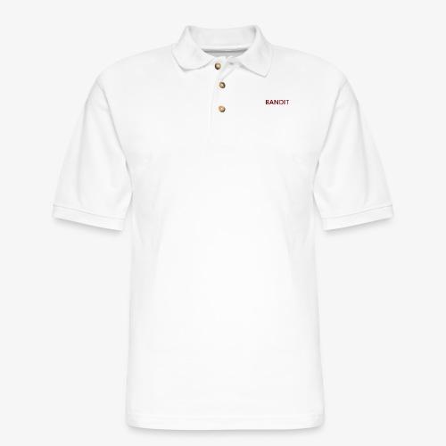 Bandit Text Logo - Men's Pique Polo Shirt