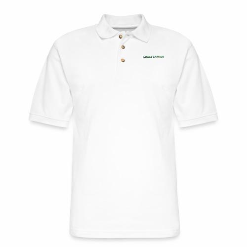 Loose Cannon Floral - Men's Pique Polo Shirt