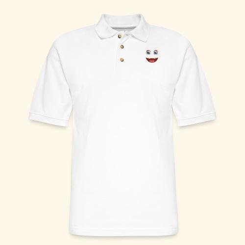 Fuzzy Puppet Face - Men's Pique Polo Shirt