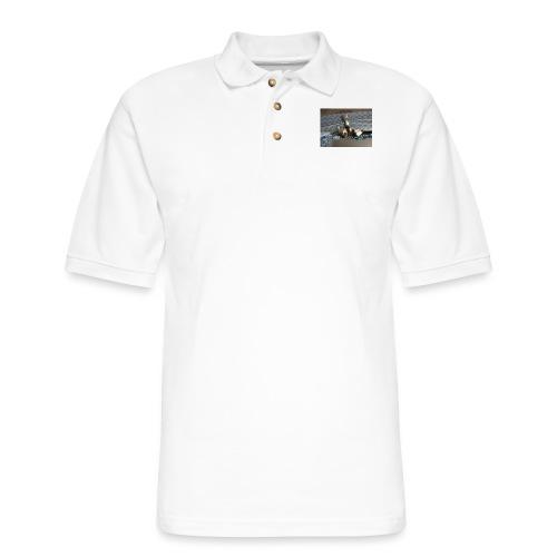 Lol da upside down fat cat - Men's Pique Polo Shirt