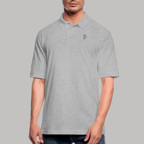 i like angry rap - Men's Pique Polo Shirt