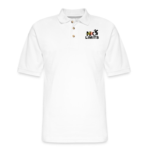 No limits for me with my wheelchair - Men's Pique Polo Shirt