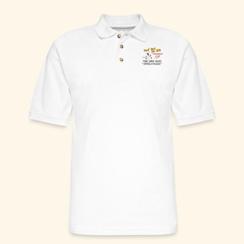 Jones Good Ass BBQ and Foot Massage logo - Men's Pique Polo Shirt