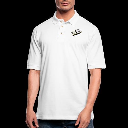 xB Logo (Gold) - Men's Pique Polo Shirt