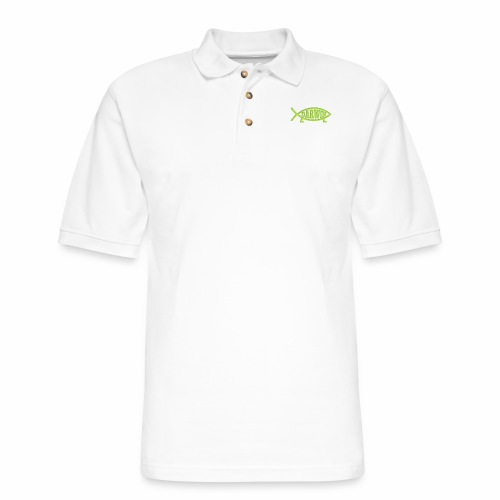 Darwin Fish - Green - Men's Pique Polo Shirt