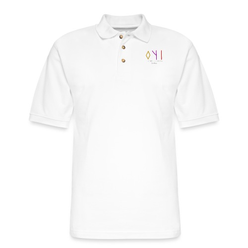 Kyoshin-Tekina Studios logo (white text) - Men's Pique Polo Shirt