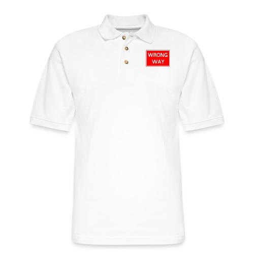 Wrong Way - Men's Pique Polo Shirt