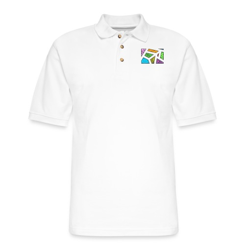 geometric artwork 1 - Men's Pique Polo Shirt