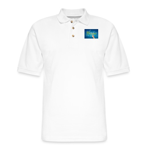web development design - Men's Pique Polo Shirt