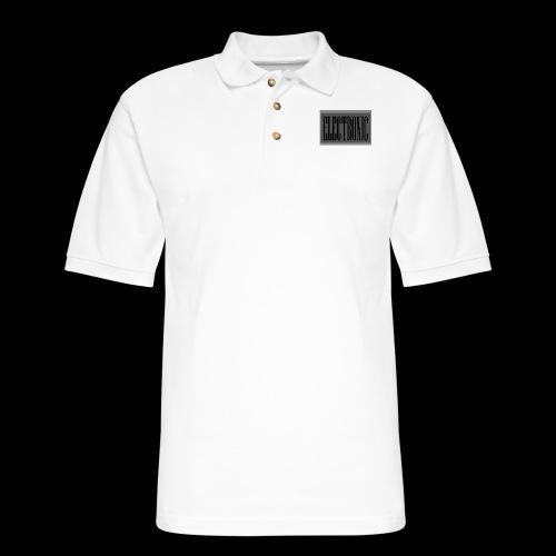 Electronic Logo - Men's Pique Polo Shirt