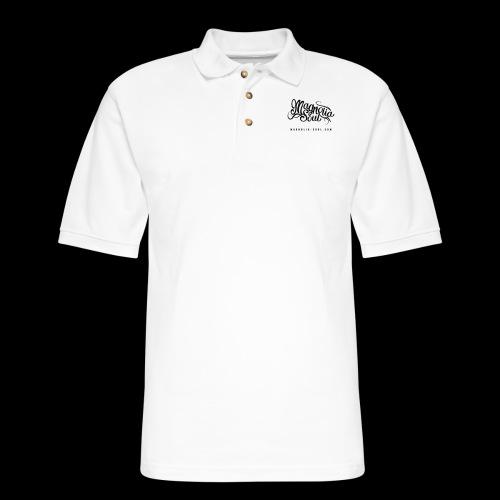 Magnolia Soul Logo - Men's Pique Polo Shirt