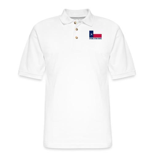 Drone Star State - Long Sleeve - Men's Pique Polo Shirt