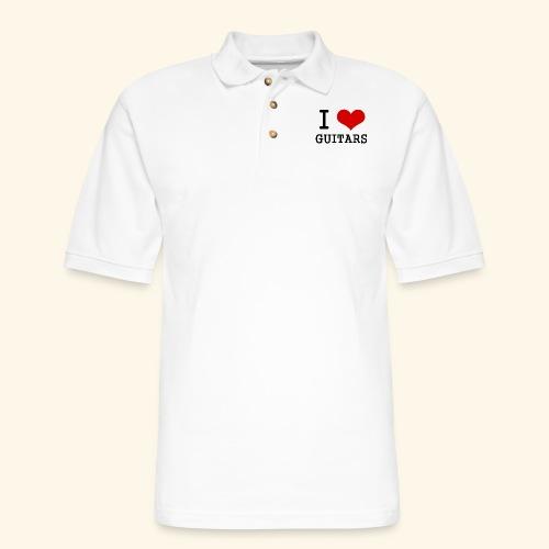 I love guitars - Men's Pique Polo Shirt