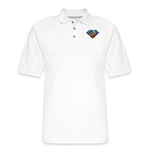 Messy Diamond - Men's Pique Polo Shirt