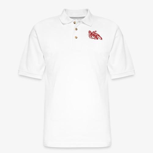 Motorcycle 02 - Men's Pique Polo Shirt