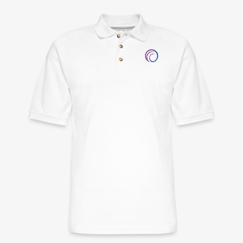 DJPR logo graphic gradient - Men's Pique Polo Shirt