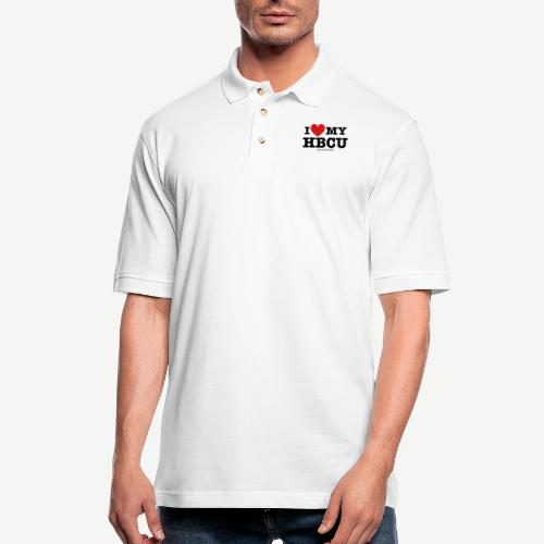 I Love My HBCU - Women's Black, Red and White T-Sh - Men's Pique Polo Shirt