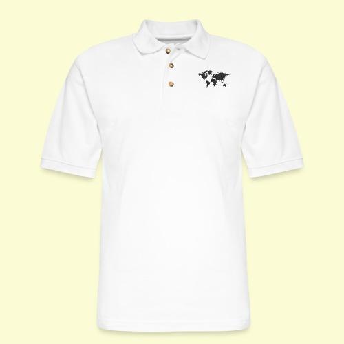 map of the world - Men's Pique Polo Shirt